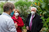 Bundespräsident Frank-Walter Steinmeier besucht Botanischen Garten Berlin
