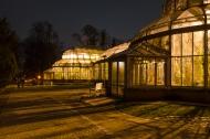 Nächtliche Gewächhäuser Foto: K. Schomaker / Botanischer Garten und Botanisches Museum Berlin